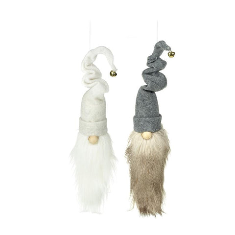 Hanging Fabric Gonks In Grey Hat
