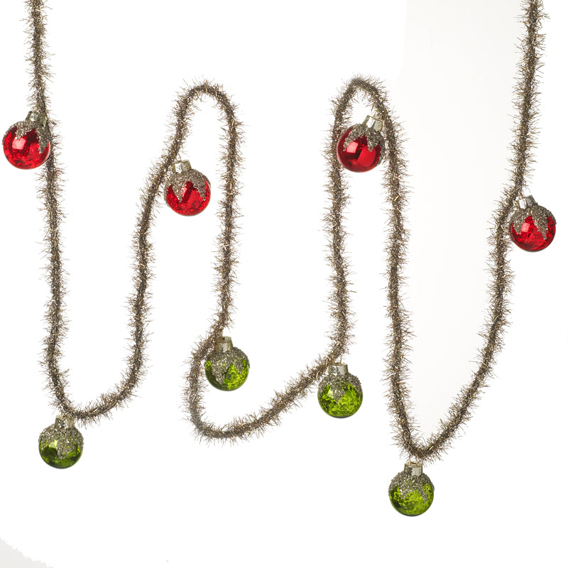 Vintage Garland with Baubles