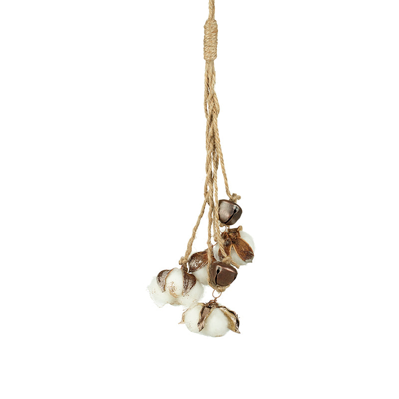 White Cotton Flower Hanging Decoration