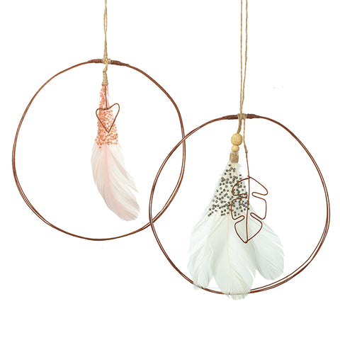 Feather Circle Hanging Decorations