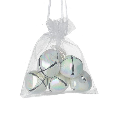 Metal Hanging Pearlescent Bell Set
