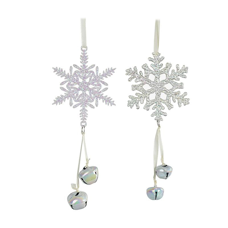 Snowflake Hanger With 2 Bells