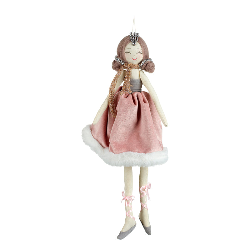 Girl in Pink Dress Hanging Decoration
