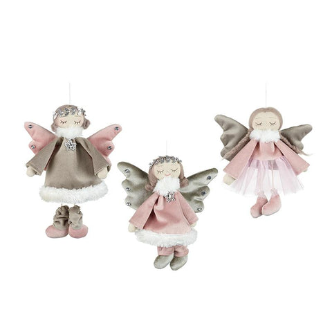 Mix Of 3 Hanging Angels In Dresses