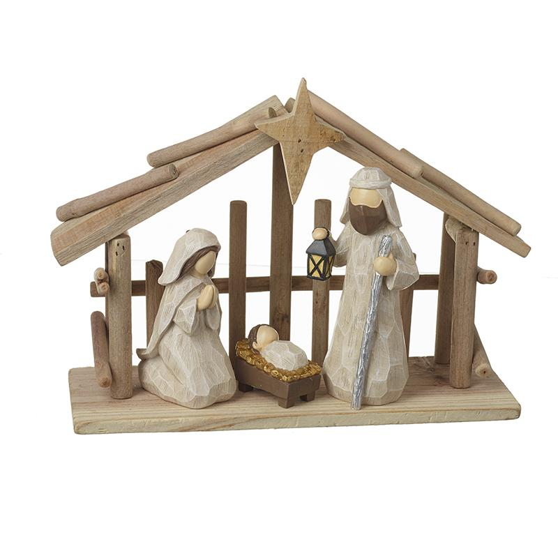 Wooden Nativity Stable
