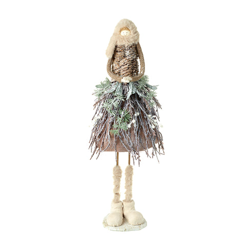 Standing Girl with Twig Skirt