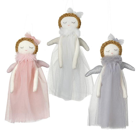Mix Of 3 Hanging Angels With Bows