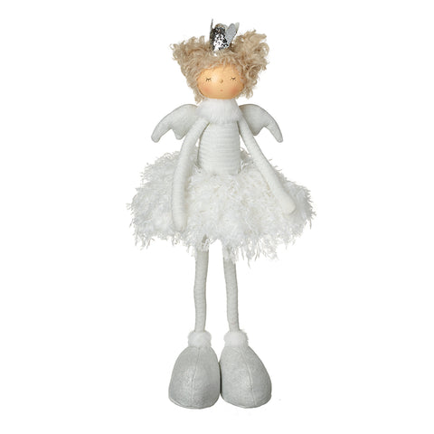 Standing Angel Wearing Silver Crown