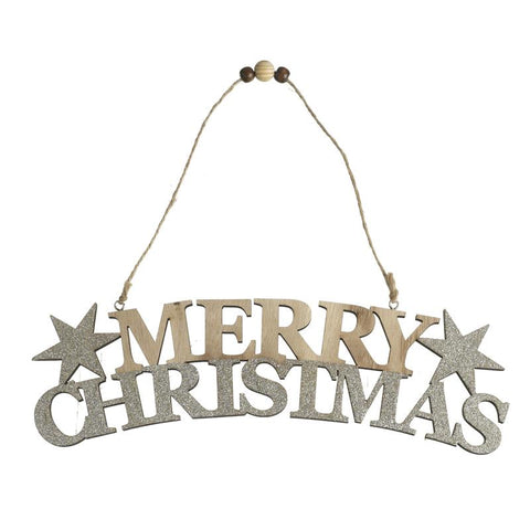 Merry Christmas Sign With Stars