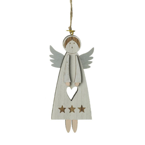 Hanging Wooden Angel