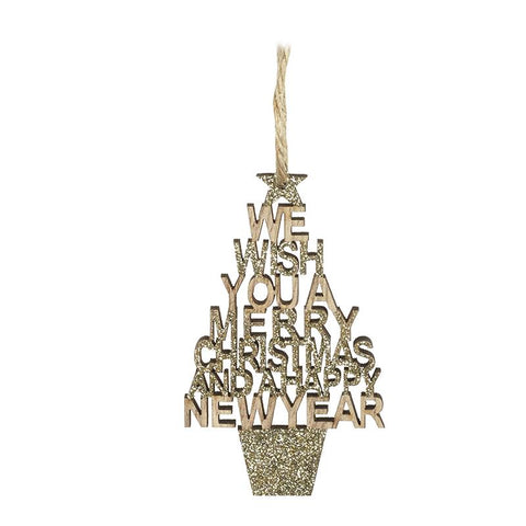 Sm Glitter Merry Christmas New Year Sign