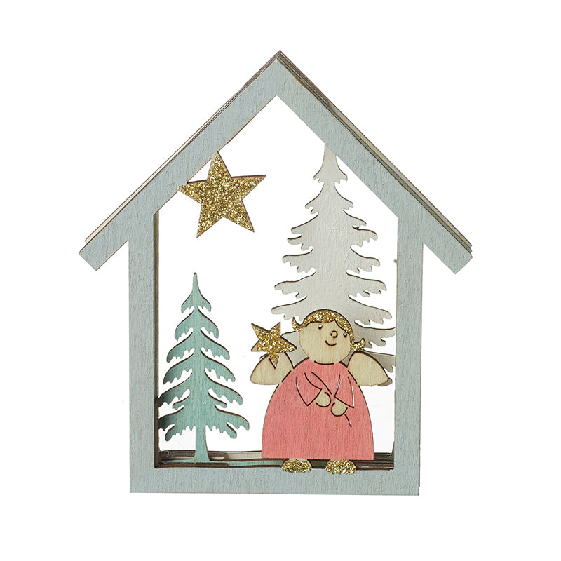 Christmas Fairy Scene with Gold Star