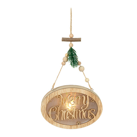 Light Up Merry Christmas Hanger