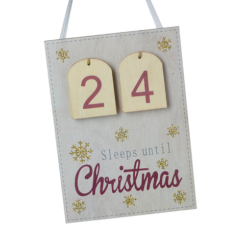 Sleeps Until Christmas Countdown Advent Calendar