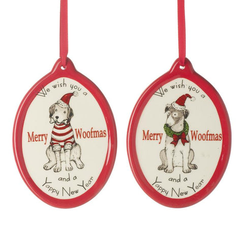 Merry Woofmas Ceramic Hanging Dec Mix