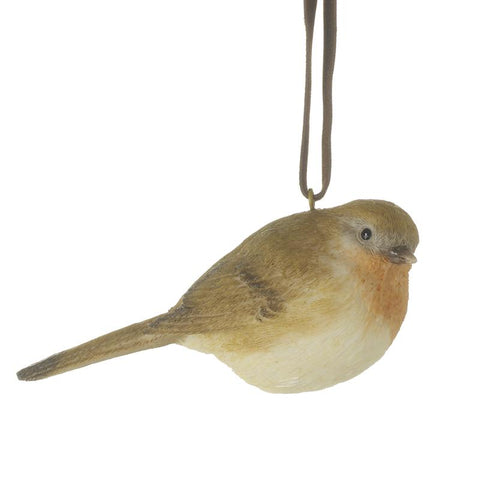 Hanging Resin Robin Decoration
