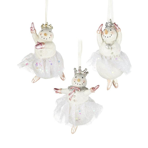 Snow Girl Resin Hanging Decoration Mix