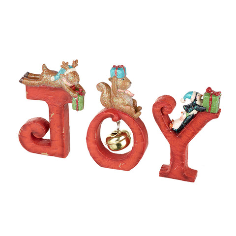 Joy Letters with Animals Decoration