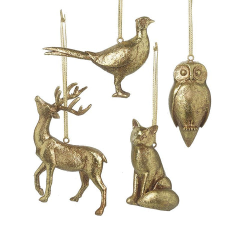 Gold Resin Animal Hanger Mix