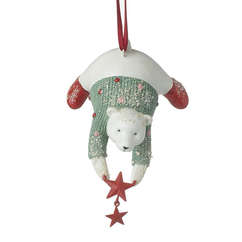 Polar Bear In Jumper Hanging Decor