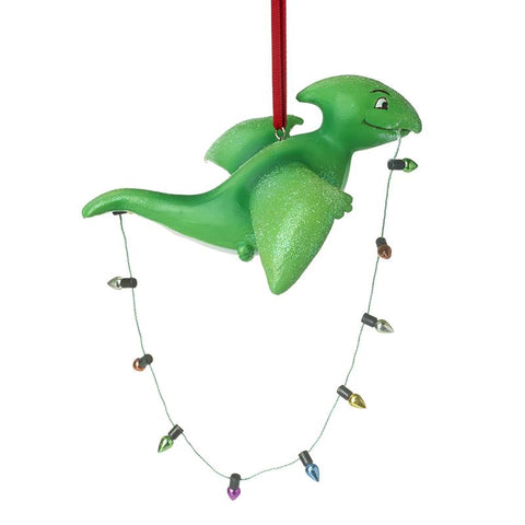 Dinosaur With Fairy Lights Hanging Decor