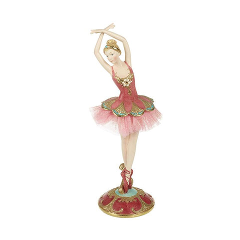 Ballet Dancer On Red & Gold Stand