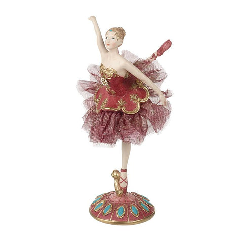 Ballet Dancer On Red & Blue Stand