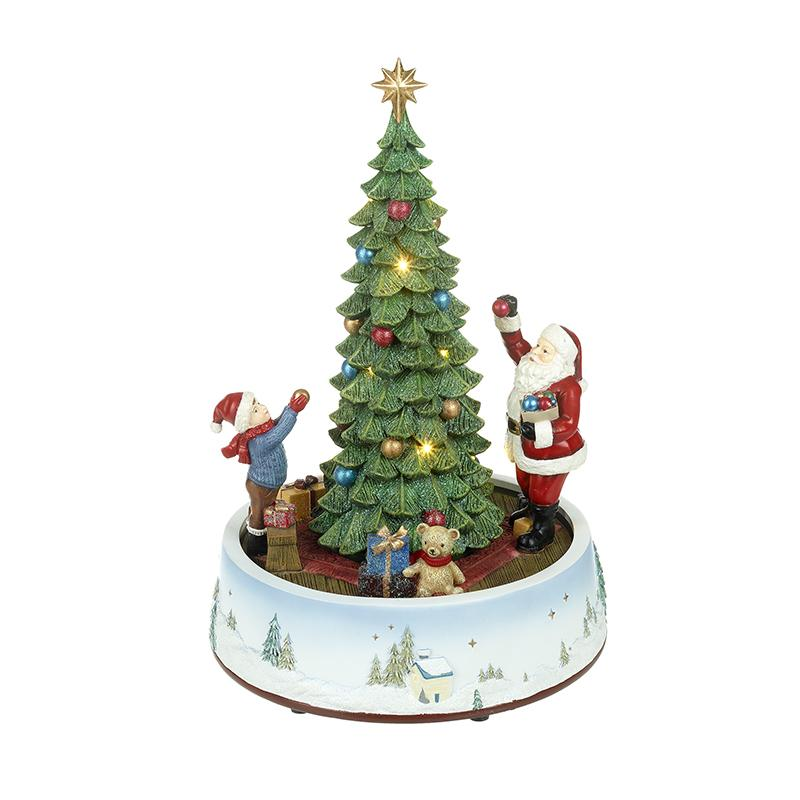Light Up Musical Tree With Santa