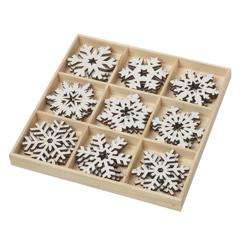 White Snowflake Set of 18