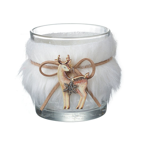 Glass Jar With Deer & Fur Detail