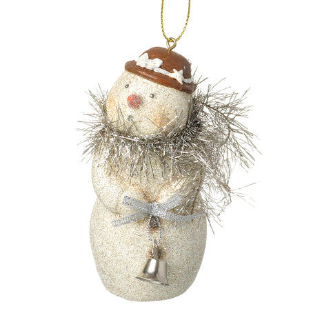 Hanging Snowman Holding Bell Tree Decoration