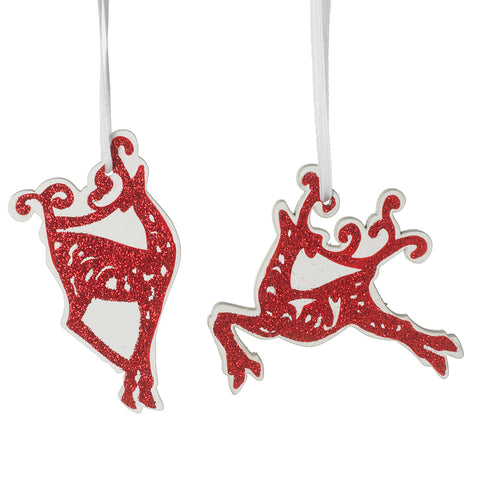 Red Reindeer Hanging Christmas Decorations