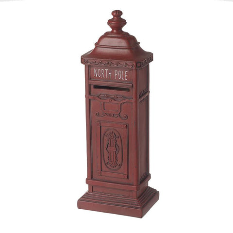 North Pole Red Vintage Post Box Sm
