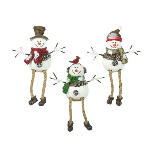 Mix Of 3 Snowmen With Hats & Earmuffs