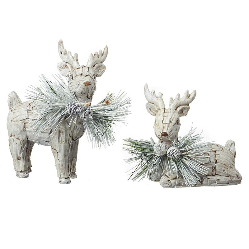 Deer With Decorative Foliage Mix