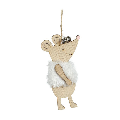 Hanging Mouse In White Gilet