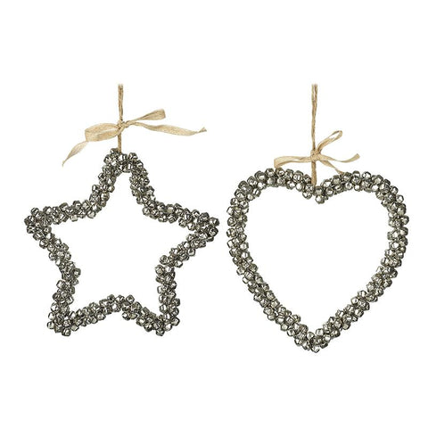 Bell Star & Heart Decorations