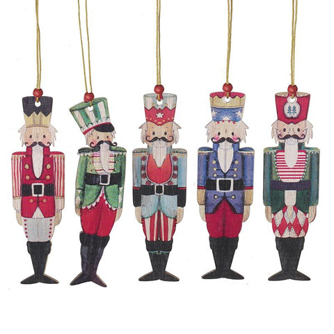 Wooden Hanging Nutcrackers Mix Decs
