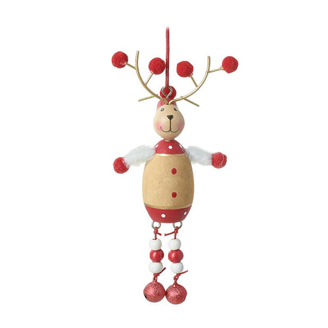 Wooden Reindeer With Red Balls Feet