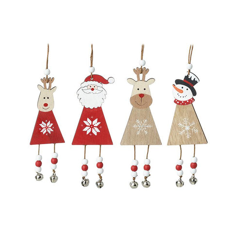 Wooden Hanging Characters With Bells