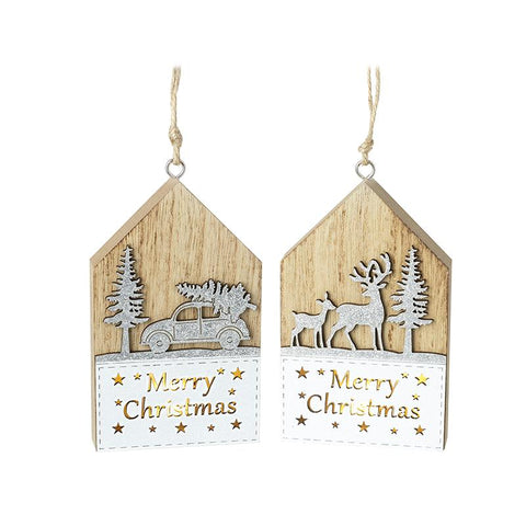 Merry Christmas Light Up Wooden Blocks