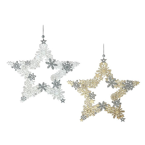 White & Gold Cut Out Stars