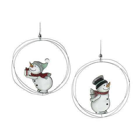 Snowmen In Wire Bauble Mix