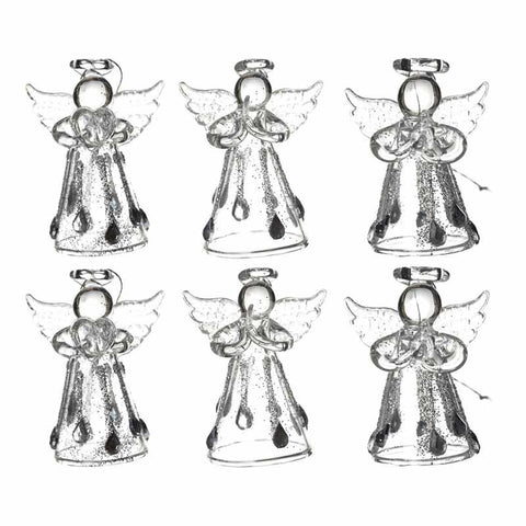 Glass Angel Set 6Pc