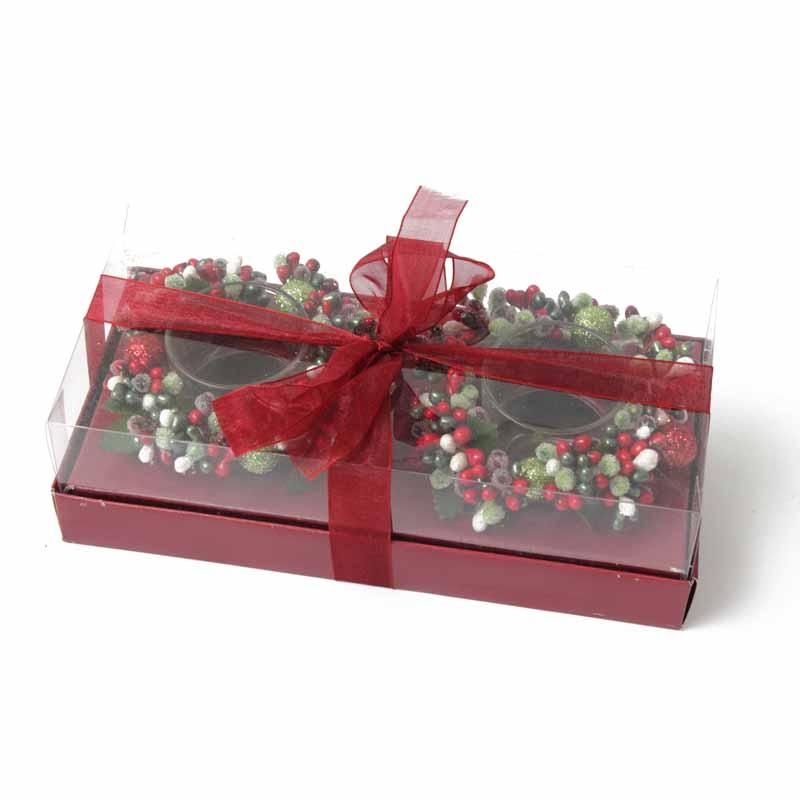 Candle Ring Gift Box & Bow Berry
