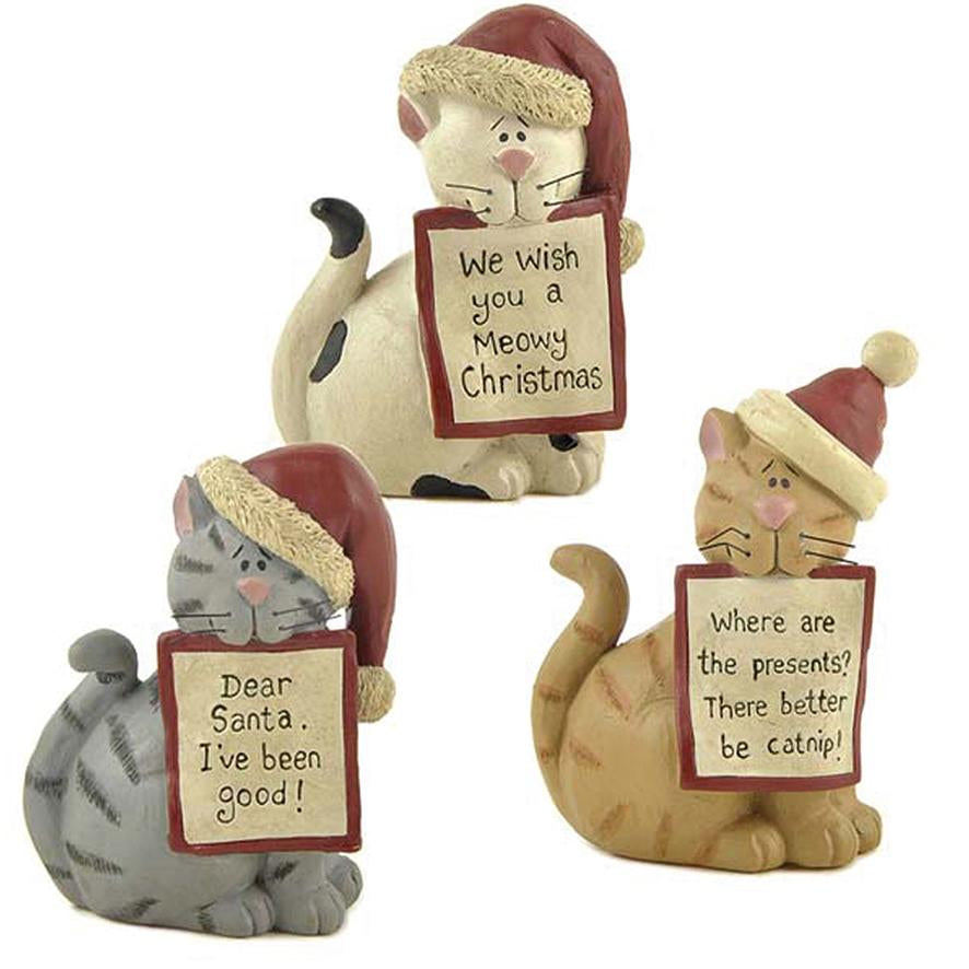Christmas Cats With Hats Set