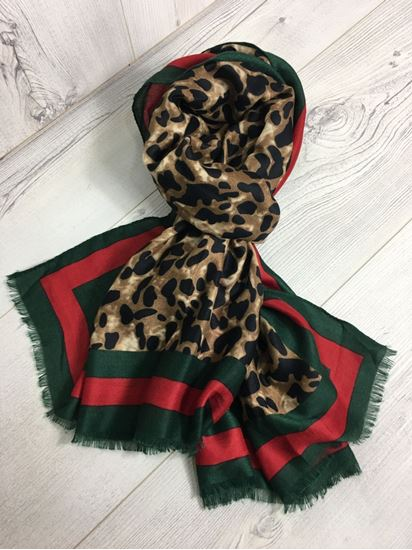 Tori Designer Inspired Animal Print Scarf