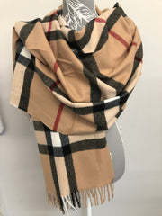 Cloda Luxury Designer Inspired Checked Scarf