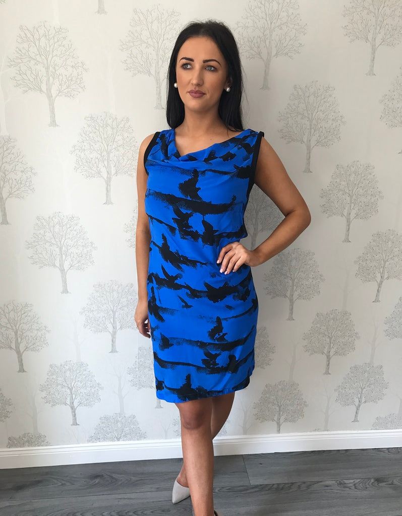 Eris Blue Pattern Midi Dress