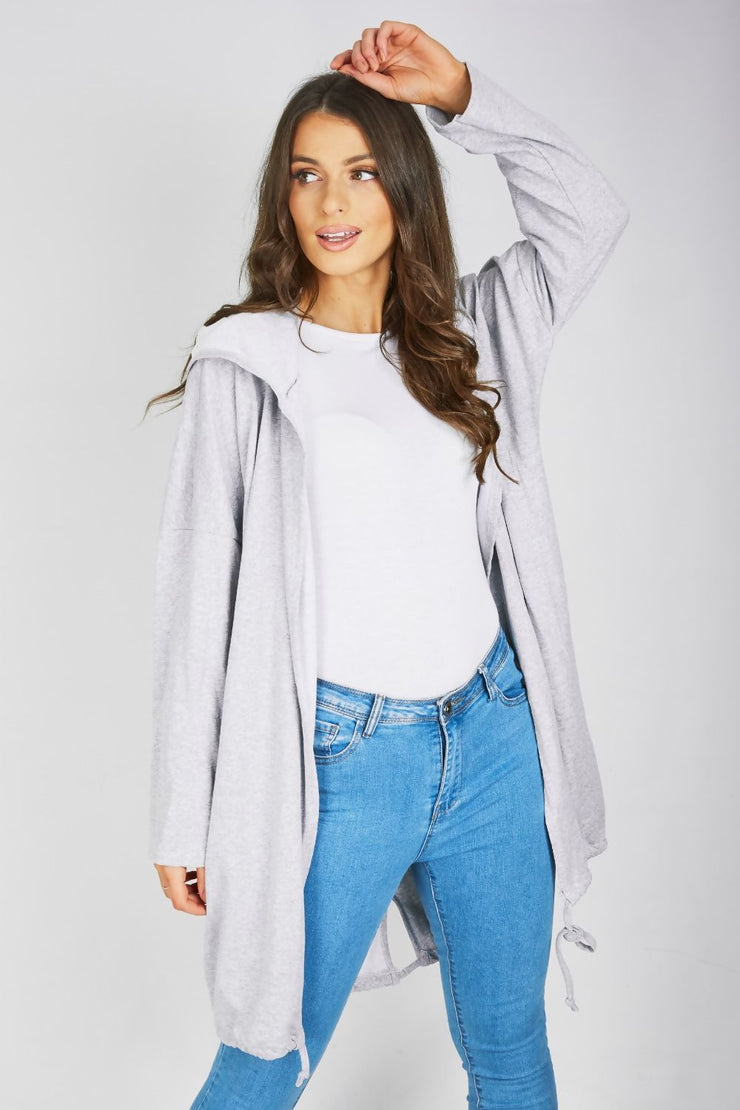 Kendra Grey Sequin Angel Wing Hooded Cardigan